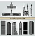 Denver landmarks and monuments vector image
