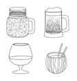 design of drink and bar icon collection of vector image vector image