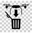 drone drop trash icon vector image vector image