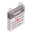 festive date calendar icon isometric style vector image vector image