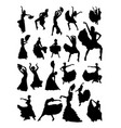 flamenco dancer silhouette vector image vector image