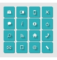 Flat Icon Set for Web vector image vector image