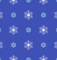 flat style snowflakes seamless pattern vector image vector image