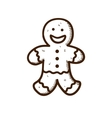 Gingerbread cookie man vector image