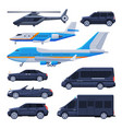government vehicles collection black presidential vector image vector image