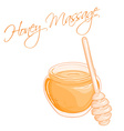 hand drawn of isolated massage honey vector image
