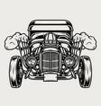 hot rod custom car concept vector image vector image