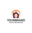 house building logo real estate template design vector image vector image