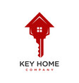 house key logo design vector image vector image