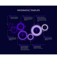 infographic template with gears vector image