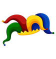 Jester hat on white background vector image vector image