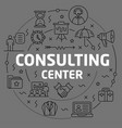 linear consulting center vector image vector image