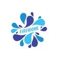 logo firework vector image