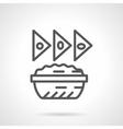 Nachos icon black line icon vector image vector image