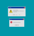operating system error warning on green isolated vector image vector image