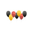 realistic balloons in germany national colors vector image vector image