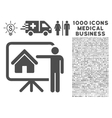 Realtor Icon with 1000 Medical Business Symbols vector image vector image