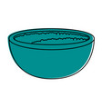rice bowl foood vector image vector image