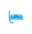 scuba diving sport logo design concept vector image