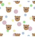 seamless pattern with bear vector image