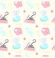 seamless pattern with cute cat vector image vector image