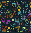 seamless pattern with geometric figures in the vector image vector image