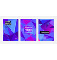 set abstract geometric covers banners vector image vector image
