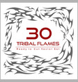 set of flame elements vector image