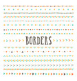 set of hand drawn borders and dividers vector image vector image