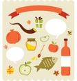 set of Jewish new year icons Happy Shana Tova vector image vector image