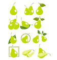 set pears vector image
