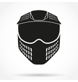 Silhouette symbol of paintball mask with goggles vector image vector image