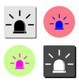 siren flat icon vector image