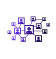 social network icon people network vector image vector image