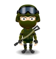 Soldier military character combat black mask male vector image vector image