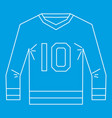sports shirt with the number 10 icon outline style vector image vector image