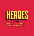 super hero style comics font vector image vector image