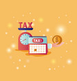 tax time set icons vector image