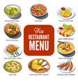 thai cuisine food traditional dish icons vector image vector image