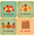 Thanksgiving Day Retro Poster vector image vector image