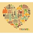 The love of travel vector image vector image