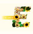 vitamin e in food vector image vector image