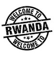 welcome to rwanda black stamp vector image vector image