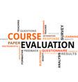 word cloud course evaluation vector image vector image