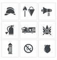 Fire Service icons set vector image