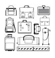Luggage icons set vector image