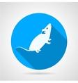 Rat flat blue icon vector image