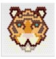 Mosaic Tigers vector image
