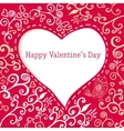 Romantic hand drawn floral Valentines day card vector image