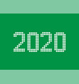 2020 white rounds numbers vector image vector image
